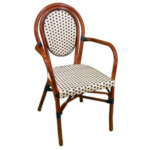 Parisienne Arm Chair in Ivory-Black