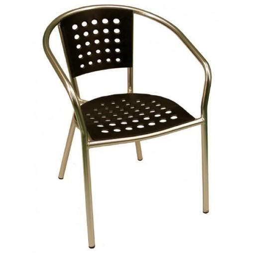 South Beach Arm Chair in Black