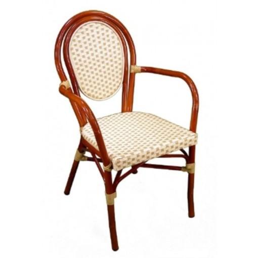 Parisienne Arm Chair in Ivory-Honey