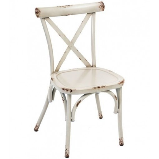 Farmhouse Side Chair in Ivory