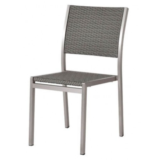 Belize Aluminum Side Chair in Gray
