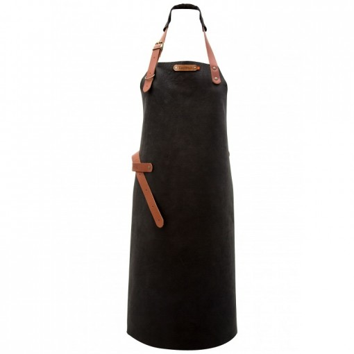 "Leather Apron ""Utah"" Black"
