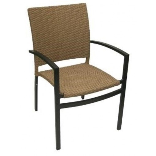 Oveido Stacking Arm Chair in Cappuccino