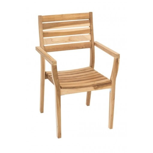 Genuine Teak Vegas Stacking Arm Chair