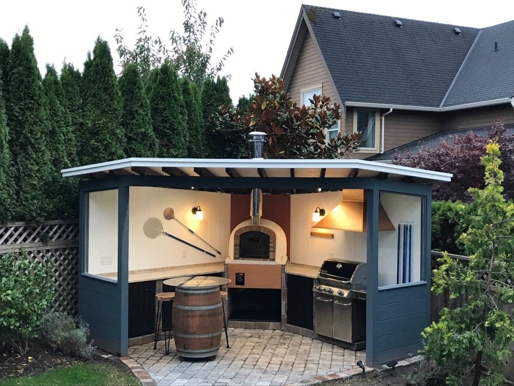 Brick Pizza Oven, Wood Fired, Outdoor