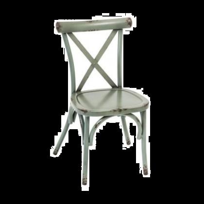Farmhouse Side Chair in Teal