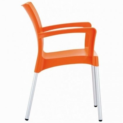 Domenica Arm Chair in Orange