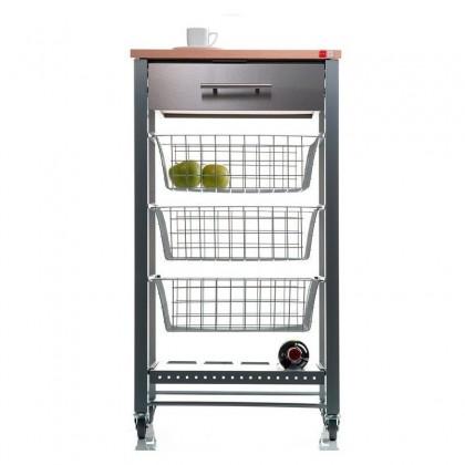 kitchen cart with wine rack