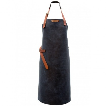 "Leather Apron ""Florida"" Blue"