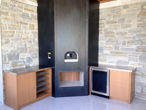 wood fired oven built-in